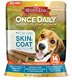The Missing Link - Once Daily All Natural Omega Dental Chew - Hips - Joints & Teeth - SMALL MED Dog - 14 day supply