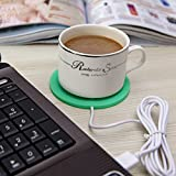 USB Silicone Coffee Mug Warmer,Royal Characters,Double Sided,Office Desktop and Home Use,Electric Cup Beverage Warmer for Coffee,Tea,Water,Cocoa,Milk,Soup,Low Profile,Portable,Spill resistant (Green)