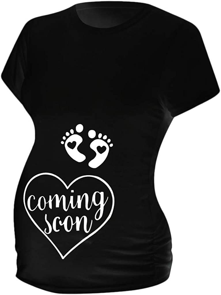 Iusun Womens Maternity Vest Tops Solid Sleeveless Plus Size T-Shirt Mom Comfy Nursing Breastfeeding Pregnants Summer Cloth