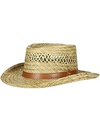 Mens Rush Straw Lightweight Casual Wide Brim Gambler Hat