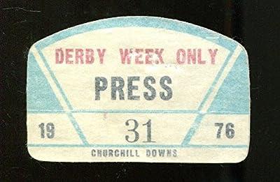 1976 Kentucky Derby Churchill Downs Press Sticker Race Week Bold Forbes Ex 23283