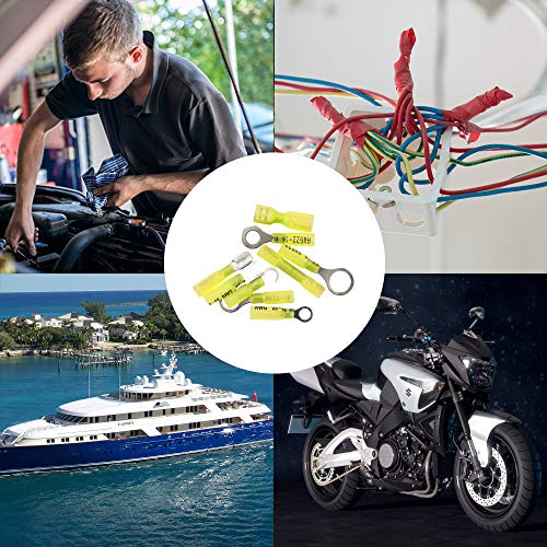 270 PCS Heat Shrink Wire Connectors Crimp Terminals Kit,Electrical Insulated Waterproof Marine Automotive Butt Fork Hook Ring Spade Terminal Set by Jeemitery (Image #5)