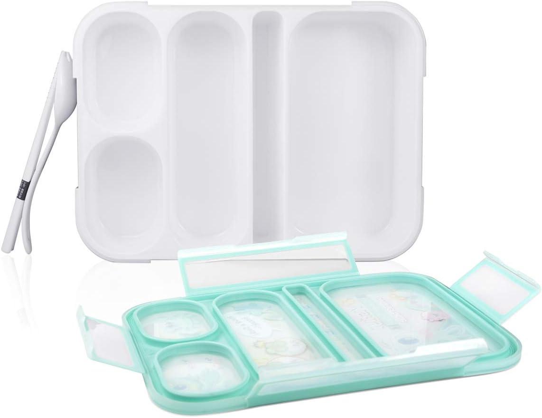 2 Stück AckMond Bento Box Mikrowellensichere Brotdose Lunch Box mit 6 separaten Siegelbehältern