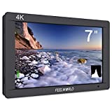 FEELWORLD FW703 7 Inch IPS 4K HDMI Monitor Full HD 1920x1200 3G-SDI On-camera Monitor with Histogram for DSLR Cameras Stablizer Rig