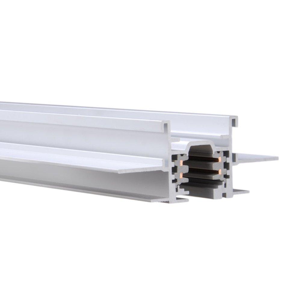 Wac lighting wt4 rtl wt w track w2 120v 2 circuit recessed track 4 feet track lighting fixtures amazon com