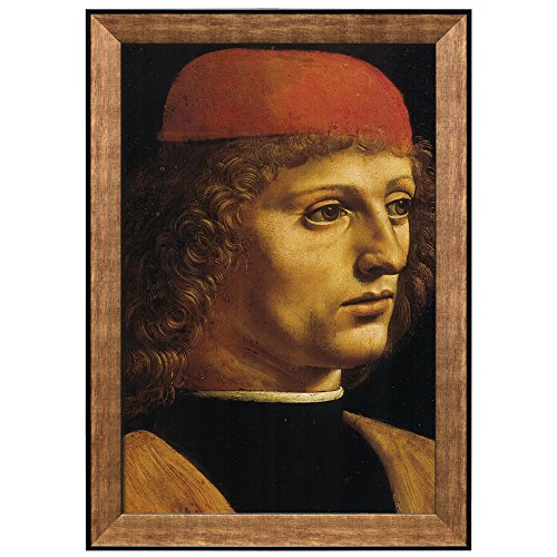 Portrait of a Musician by Leonardo Da Vinci Framed Art