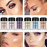 Alonea Shimmer Eyeshadow, Women Eye shadow Color Makeup Glitter Eyeshadow Powder Cosmetics 6 Pack