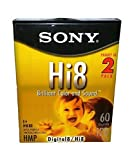 Sony Hi8 P6-120HMPL/2B Brilliant Color and Sound Metal Particle Digital 8 / Hi 8 - 2 Pack