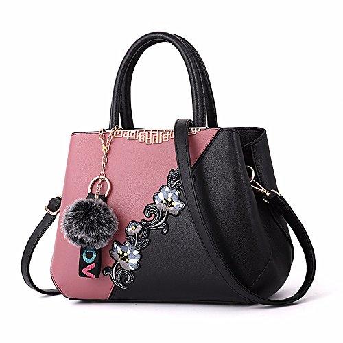 Bolso Bandolera Vintage Rosado Crossbody Negro Bandolera Bag CCZUIML wfqWFPE5T