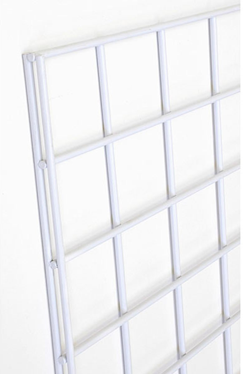 Gridwall Mall Kiosk Panel 3' x 8' Retail Rack Display Fixtures Used for Peg Hook White Lot of 12 New