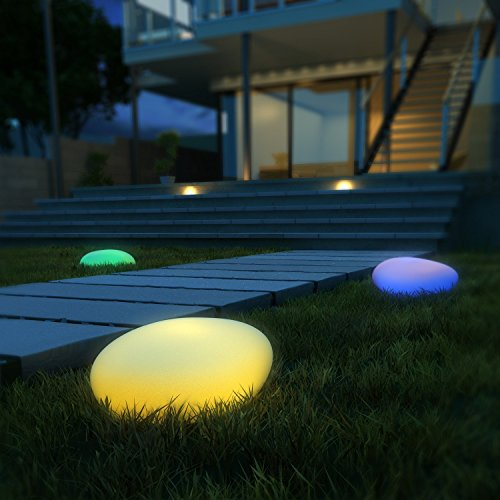 LED Solar Lights, Kealive Led Ball Light, LED Solar Garden Lights for Outdoor, Indoor, Poolside, Garden Parties, Garden, Home, Dancing, Party Decorative Ornament 15-inch 8 Colors
