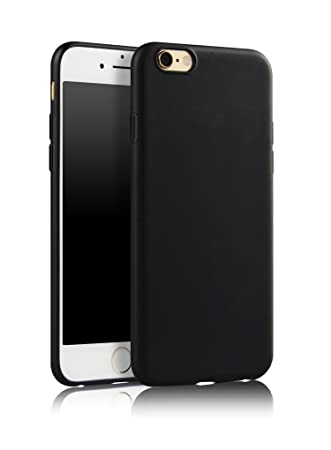 the best attitude 082a5 b6ee4 SDTEK Case For iPhone 6s (Black) Matte Cover Premium Matte Soft Case  [Silicone TPU] iPhone 6s / 6 (Black)