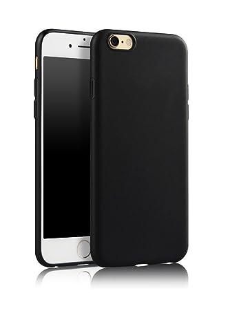 the best attitude 48894 da250 SDTEK Case For iPhone 6s (Black) Matte Cover Premium Matte Soft Case  [Silicone TPU] iPhone 6s / 6 (Black)