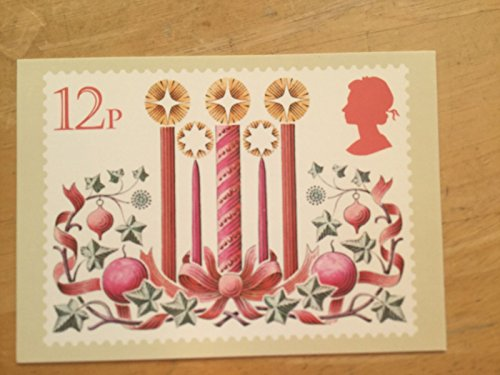 TGBCH Royal Mail PHQ Stamp Cards (19 November 1980 12p Christmas Candles)