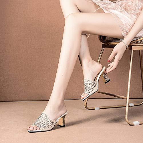 GTVERNH Damenschuhe Mode Damen - Joker Sommer Sommer Sommer Fische Mund Schuhe Nahen Betuchte Sandalen 7Cm High Heels Mode Cool. 0e20b1