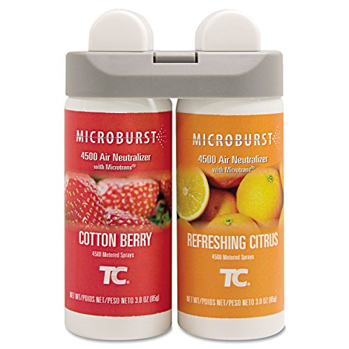 Rubbermaid Commercial Microburst Duet Refills, Cotton Berry/Refreshing Citrus, 3oz, 4/Carton by Rubbermaid Commercial