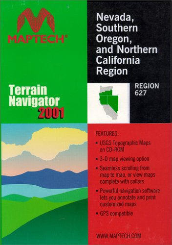 MyTopo Maptech TNav Nevada/Southern Oregon/Northern California Topographical Map CD-ROM (Windows)