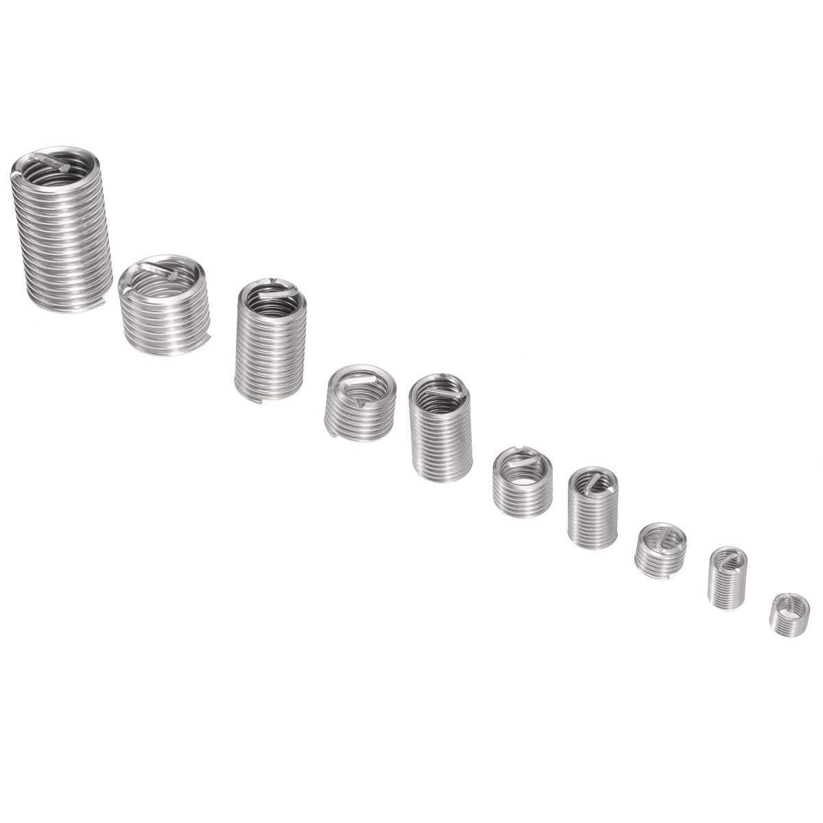 Ochoos 150pcs//set Stainless Steel 304 Thread Repair Insert Kit M3 M4 M5 M6 M8 with Box Inserts Assortment Kit