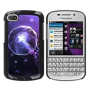LECELL -- Funda protectora / Cubierta / Piel For BlackBerry Q10 -- Underwater jellyfish Amoba --