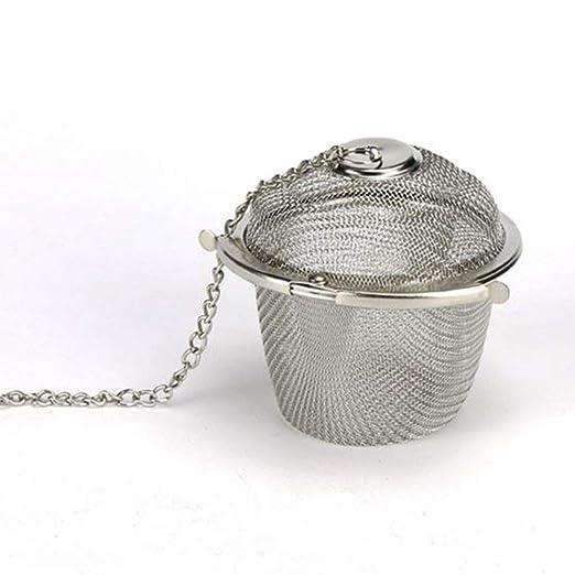 welim colador de t/é Infuser bola colador reutilizable de hierbas especias Cocinar Bola Filtro Colador de malla de acero inoxidable colador