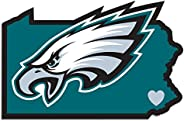 Siskiyou Sports FHSD065 Philadelphia Eagles Home State Decal, White, 5-Inch