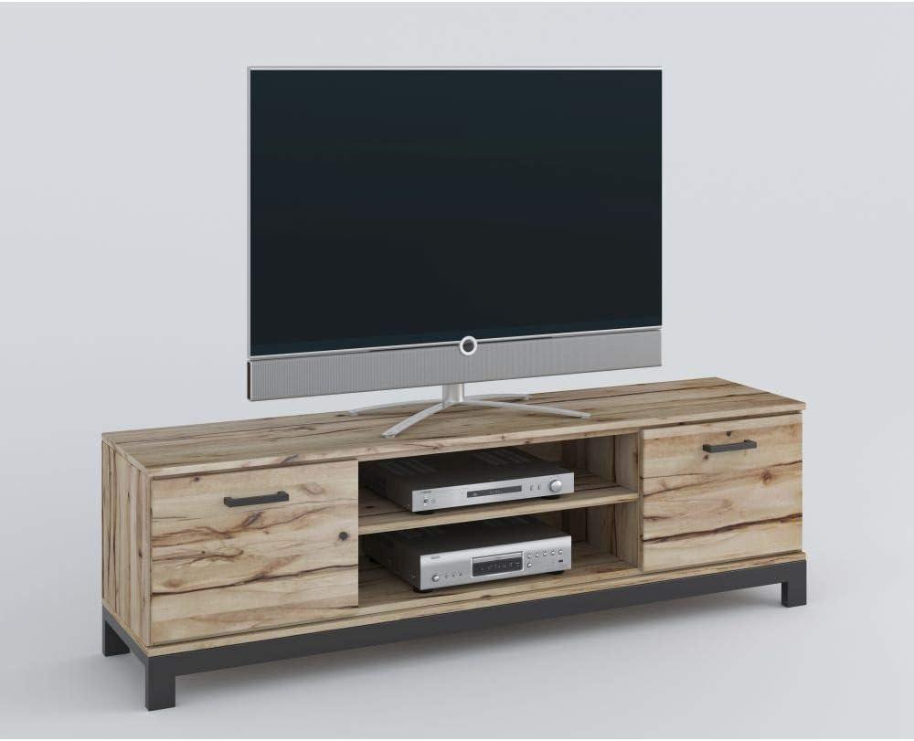 roominado Nina - Mueble bajo para televisor (170 x 51 cm, Madera de Haya Maciza barnizada): Amazon.es: Hogar
