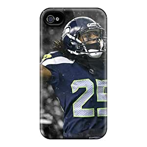 New Snap-on Jeffrehing Skin Case Cover Compatible With Iphone 4/4s- Nfl Player Richard Sherman
