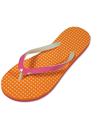 Private Label - Ladies Flip Flop, Orange, Pink 25000-S5-6