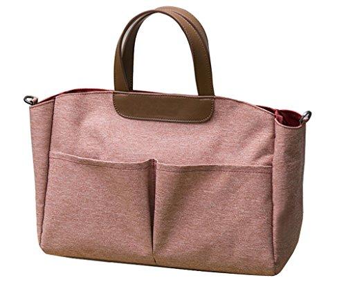 iSuperb Bolsos Mujer Baratos Grandes Carteras de mano y clutches Ropa Oxford Tote Bag Rosado