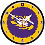 NCAA LSU Tigers WinCraft Official Round Clock