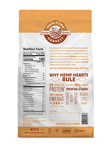 Manitoba Harvest Hemp Hearts Raw Shelled Hemp Seeds, 5lb; with 10g Protein & Omegas per Serving, Non-GMO, Gluten Free by Manitoba Harvest (Image #1)