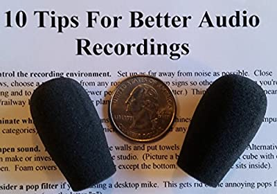 Compete Audio BS30 replacement microphone windscreens (microphone covers) (2-pack) for use with Bose Aviation, BlueParrott trucker headsets from Compete Audio