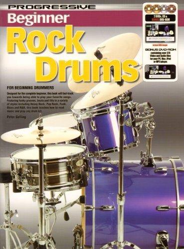 11807 - Progressive Beginner Rock Drums - Book/CD/DVD by Peter Gelling (2012-01-01)