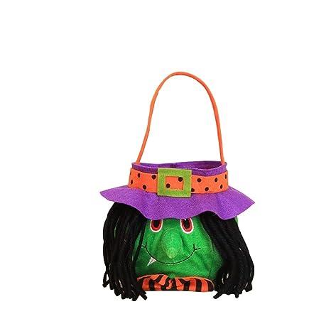 GLOGLOW Bolsas de Lazo de Halloween Trick or Treat Portátil ...