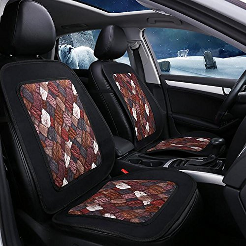 MIAO Car Seat Cushions Cover,Five-Seats Car Universal Winter One Linen Car Seats Cover , brown: Amazon.co.uk: Sports & Outdoors