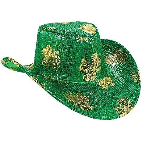 ff5e77f1223 Amazon.com  Sequin Shamrock Cowboy Hat