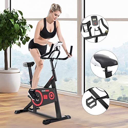 Indoor Cycle Exercise Bike Stationary Bicycle Cardio Fitness Workout Gym Home Max 440lb