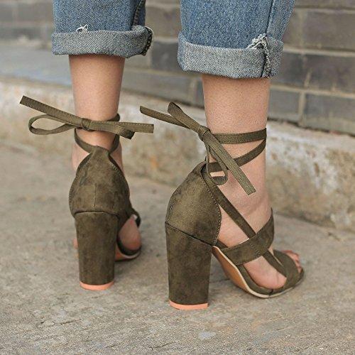 Poissons Femme Printemps Minetom Bonbon Bouche Shoes Décontractée Vert Mode Été Hauts Bloc Plage Chaussures Couleur de de Sandale Talons A vq55wxTnd