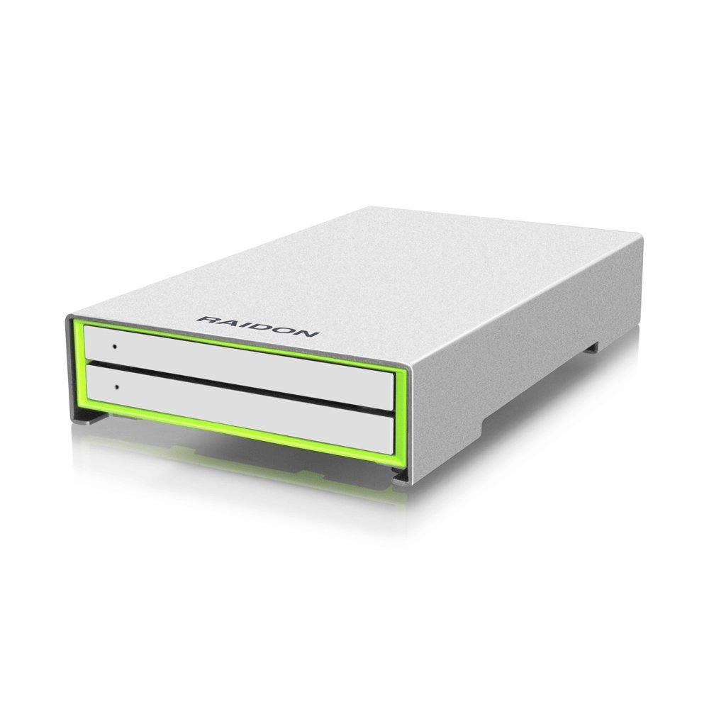 Raidon RunneR Series 2.5-Inch Dual Bay Hard Drive/Solid State Disk RAID Enclosure (GR2660-B3)