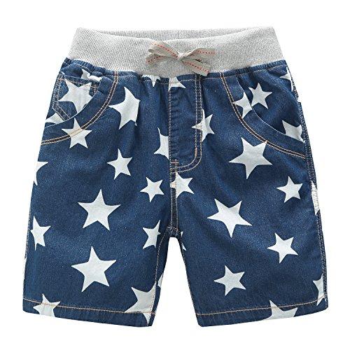 Encontrar Boys Stars Printed Denim Short Blue 3T