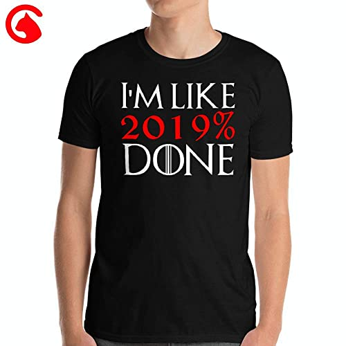 c9fb2fe0 Image Unavailable. Image not available for. Color: CatixFashion I'm Like  2019% Done Shirt Graduation Gift T ...