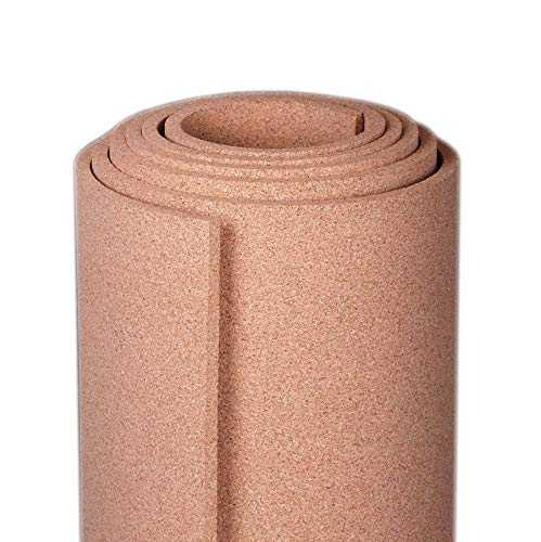 Manton Cork Roll, 100% Natural, 4' x 12' x 1/2