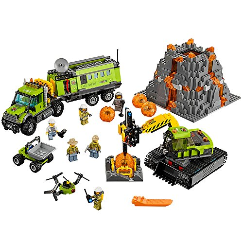 LEGO City Volcano Exploration Base 60124 Construction Toy, Building Toy (Big City Lego Sets)