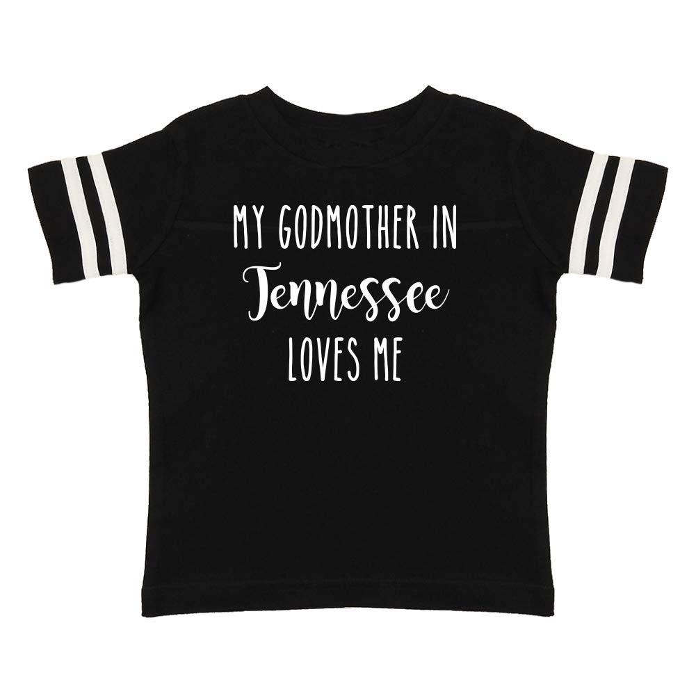 My Godmother in Tennessee Loves Me Toddler//Kids Sporty T-Shirt