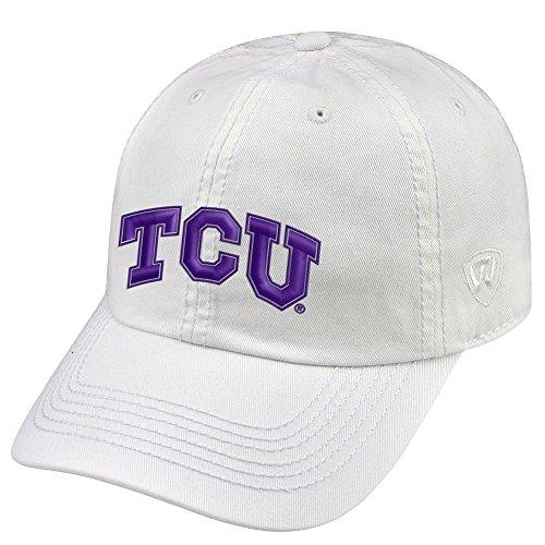 Elite Fan Shop TCU Horned Frogs Hat White (Texas Christian Horned Frogs Baseball)