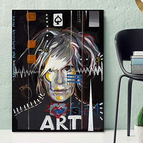 baodanla Pintura al oleo sin Marco Famosos Andy Warhol Carteles e Impresiones Lienzo Ng Abstracto Moderno Pop Art Cuadros Cuadros de Pared para Sala de Estar 30x40cm