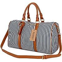 BAOSHA HB-24 Ladies Women Canvas Weekender Bag Cosmetic Travel Bag Overnight Carry on Bag