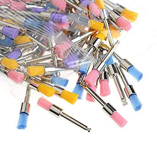 Prophy Brushes - Hot 100pcs Color Nylon Latch Flat Polishing Polisher Prophy Brushes