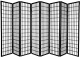 8 panel shoji divider - Legacy Decor 8 Panel Japanese Oriental Style Room Screen Divider Black Color