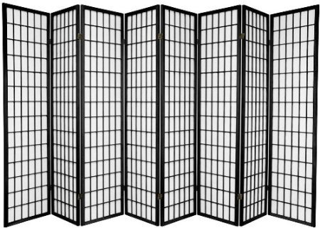 Legacy Decor 8 Panel Japanese Oriental Style Room Screen Divider Black Color by Legacy Decor